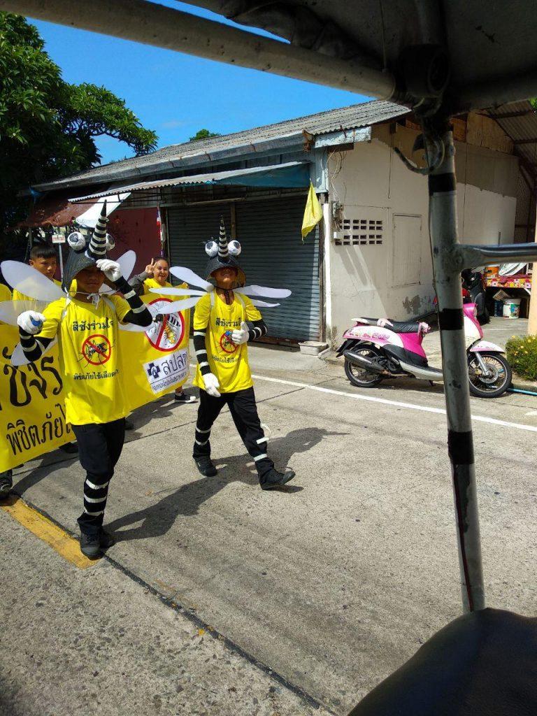 Проезжали мимо демонстрации против комаров