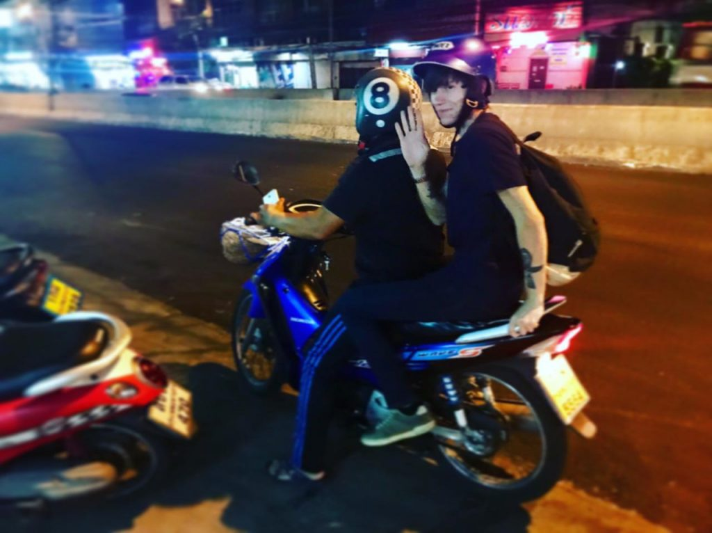 Grab moto taxi