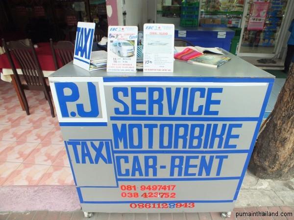 Стойки такси сервиса в Паттайе