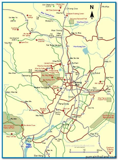 подробная карта Чиангмай