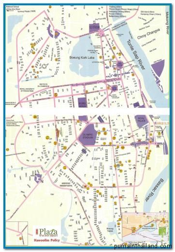 карта пномпень