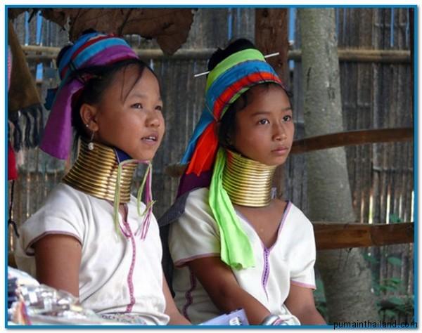 длинношеие женщины племени каренов