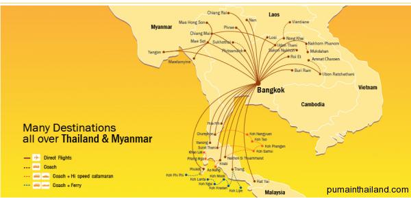 Карта полетов Нокайр