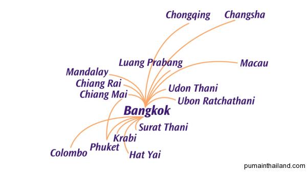Карта полетов thai smail