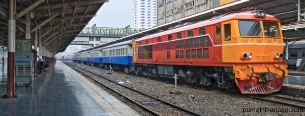 Поезда кстати ездят почти везде по Тайланду
