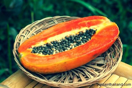 Папайя пока не созрела считается овощем и применяется в традиционном тайском салате Сом Том