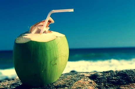 Охлажденный кокос отлично утоляет жажду в жару