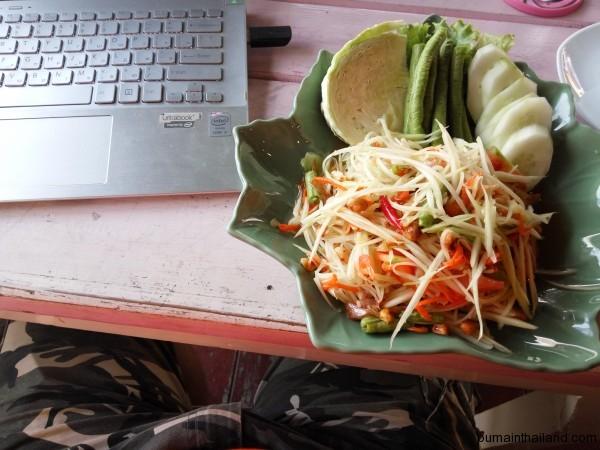 На обед теперь чаще всего папайский салат сомтам